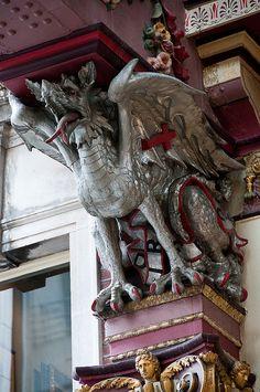 Leadenhall Market dragon by oblong57, via Flickr