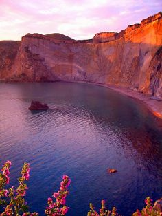 Bay at sunset - Chiaia di Luna Beach, Ponza Island, Pontine Islands, Lazio, Italy