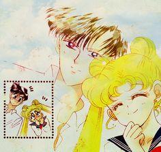 Manga Coloring: Sailor Moon: Usagi and Mamoru by bakaprincess85 on DeviantArt