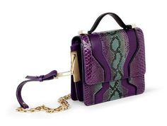 "Burak Uyan snakeskin exotic handbag with gold detail, via style.com. via Examiner.com article ""Spring Summer 2013 trend: safari"""