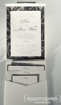 By adding a second layer to a pocket will really dress your invitation up!