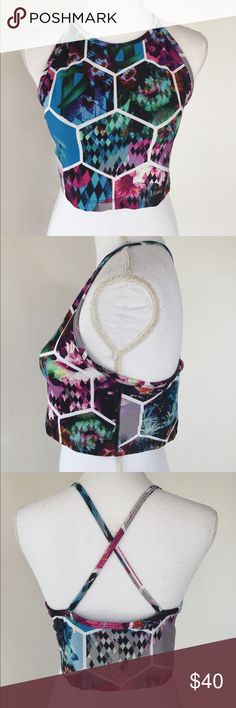 Betsey Johnson Crisscross Halter Workout Top, 10 This gorgeous Betsey Johnson Crisscross Halter Workout Top, 10 is great for those high intensity workouts! EXCELLENT CONDITION, NO DEFECTS AND COMES FROM A SMOKE FREE HOME. Betsey Johnson Tops Crop Tops