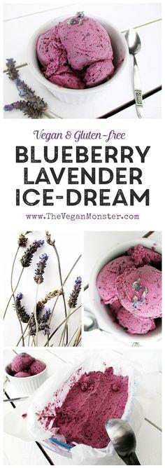 Vegan Gluten-free Dairy-free Refined Sugar-free Blueberry Lavender Ice Cream Recipe