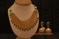 gold_beads_multi_layer_emerald_necklace_amrapali
