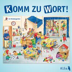 """Finken-Verlag GmbH on Instagram: """"In der Kita gibt es so viel zu entdecken! Mit dem Hör-Bilder-Buch aus unserer Reihe """"Komm zu Wort!"""" gehen die Kinder auf Entdeckungsreise…"""" Kindergarten, Peanuts Comics, Instagram, Day Care, Book, Pictures, Kindergartens, Preschool, Preschools"""