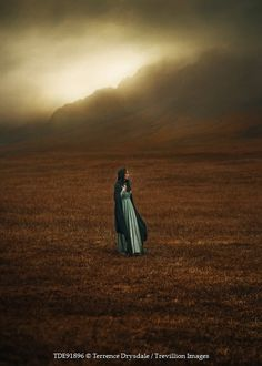 Terrence Drysdale HISTORIC WOMAN STANDING IN FIELD Women