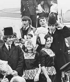 Beatles at Schiphol 1964. Love this picture so much!