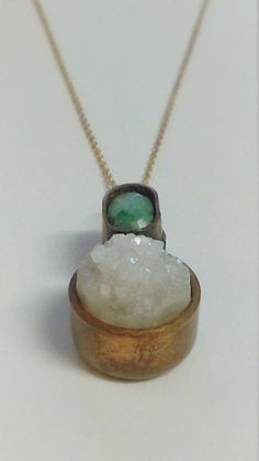 Hey, I found this really awesome Etsy listing at https://www.etsy.com/listing/247599269/natural-geode-necklace-sea-foam-green