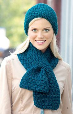 Perfect for gifts or expanding your own wardrobe, these stylish designs have classic details that are easy to crochet.  http://www.maggiescrochet.com/collections/new/products/hats-scarves-cowls