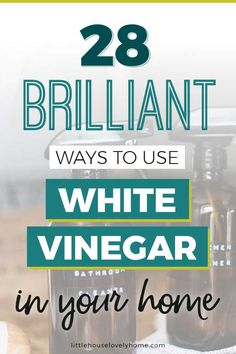When it comes to white vinegar uses, the list is seemingly endless. Check out these clever ways to use white vinegar from cleaning to personal care and more. Homemade Cleaning Products, Household Cleaning Tips, Cleaning Recipes, Household Cleaners, House Cleaning Tips, Cleaning Hacks, Oven Cleaning, Household Products, White Vinegar Cleaning