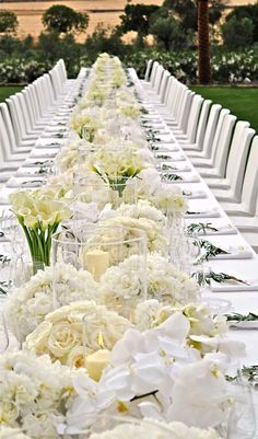 centerpieces for long wedding tables - Google Search