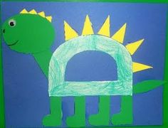 Letter D Dinosaur-letter of the week art activity