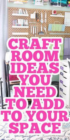 Sewing Room Storage, Sewing Room Organization, Craft Room Storage, Sewing Rooms, Storage Ideas, Organization Ideas, Sewing Closet, Craft Storage Solutions, Studio Organization