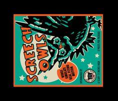 Screech Owls Tea Towel fabric by retrorudolph's on Spoonflower - custom fabric