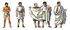 Túnica masculina, comienzos falda sencilla, después túnica manga corta