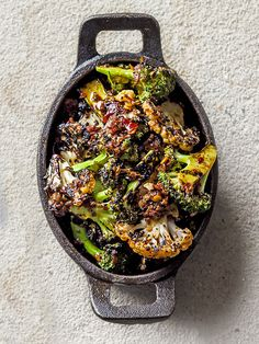 Chargrilled broccoli and cauliflower with harissa: This recipe for chargrilled broccoli and cauliflower with harissa comes from Le Bab in London and makes a great veggie side dish