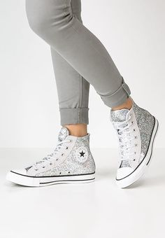 4011cf422eb34 CHUCK TAYLOR ALL STAR - Sneaker high - silver mouse white - Zalando.de. Der  Klassiker im coolen Glitzer-Look. Converse ...