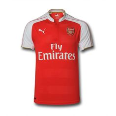 83f91bbc2a0 Puma Arsenal 2015 16 S S Home Shirt red with Petr Cech signature