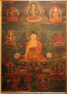 印度国家博物馆藏—释迦牟尼佛唐卡
