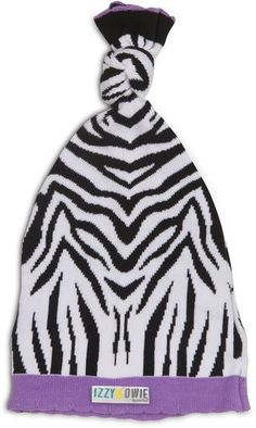 ec23b46d25a Purple Zebra Knotted Baby Hat