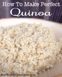 How to cook perfect Quinoa! It's so much easier than I thought!  | www.survivingthestores.com