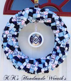 "Tampa Bay Rays Ribbon Wreath 16"""