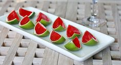 Watermelon margarita jello shots. #drinks. I'm winter-weary enough to want this NOW!!