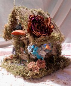 Faerie House A Flower Faerie's Home by Faeriearthart on Etsy