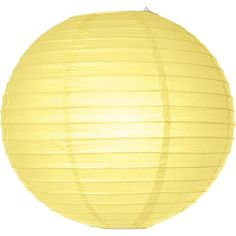 Light Yellow 14 Inch Round No Frills Chinese/japanese Paper Lanterns... ($1.43) ❤ liked on Polyvore