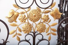 French 1940's Wrought Iron Screen / Gate image 8