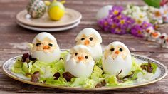Egg Fun Appetizers For Kids Stock Photo - Image of cute, chick: 40338326 Appetizers For Kids, Best Appetizers, Creative Food Art, Food Humor, Funny Food, Eating Eggs, Food Decoration, How To Cook Eggs, Easter Recipes