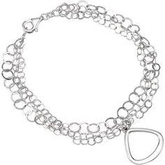 Bracelets.com - Circles Multi Strands Link Bracelet - Sterling Silver