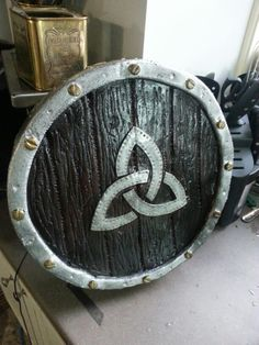 Plasti-dipped Amtgard legal 100% foam small shield