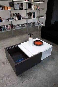 Modern Contemporary Coffee Table with Storage Compartment
