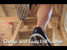 How To Build A Cheap and Easy Tiny House Loft Ladder  Follow our build at: www.tinyhousegiantjourney.com or at: https://www.facebook.com/tinyhousegiantjourney