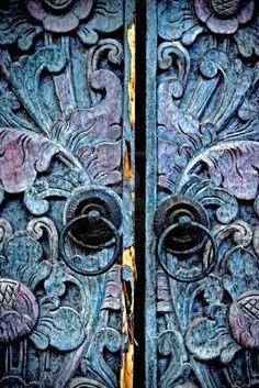 Picture of The old carved doors ethnic styles Madura, East Java stock photo, images and stock photography. Knobs And Knockers, Door Knobs, Door Handles, Cool Doors, Unique Doors, Entrance Doors, Doorway, Front Doors, When One Door Closes