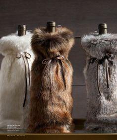 Faux Fur Wine Bottle Christmas Packaging  aa29cca3710b5