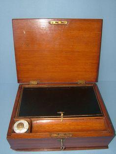 Edwardian Portable Oak Writing Box Slope with the by BiminiCricket, $195.00