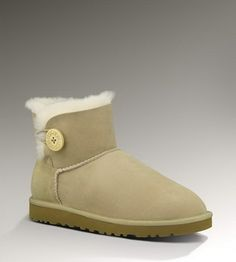【Good quality UGG 】website full of UGG for 50% off!!  Ugg 3352 Bailey Button Mini Boots Sand UK ONLY $123.83