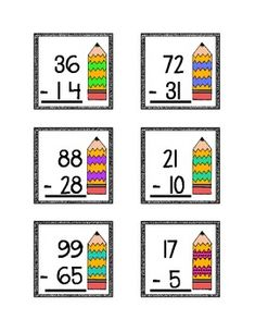 subtraction 2 digit numbers on Pinterest | Place Values, Addition And ...