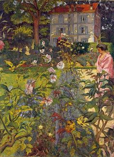 Édouard Vuillard Garden at Vaucresson 1920 stilllifequickheart: