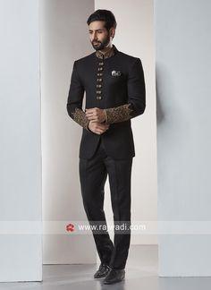Designer jodhpuri suit,jodhpuri suit for wedding Black Things black color jodhpuri suit Wedding Dresses Men Indian, Wedding Dress Men, Wedding Men, Mens Black Wedding Suits, Wedding Black, Punjabi Wedding, Indian Weddings, Wedding Outfits, Farm Wedding