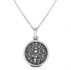Silver Sagittarius Pendant Necklace