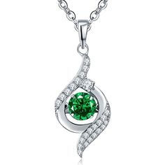 Dancing Diamond Silver and Green and White Gem Pendant Necklace 42+3cm YL Jewelry http://www.amazon.com/dp/B019YT41KC/ref=cm_sw_r_pi_dp_FZ1dxb18TNPV4