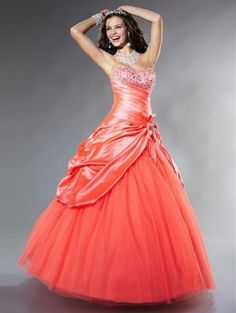 Ball Gown Sweetheart Sleeveless Floor-length Beading Tulle Dress