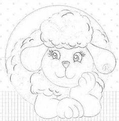 pintura em tecido ovelhinha