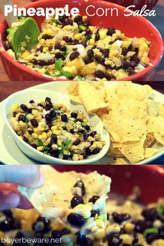 Fresh sweet corn tastes great in this salsa! The sweet and savory flavors of this pineapple corn salsa recipe gives is nothing short of addicting. Appetizer Recipes, Snack Recipes, Snacks, Easy Recipes, Appetizers, Corn Recipes, Appetizer Ideas, Delicious Recipes, Sauces