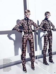 Kaleidoscope prints...Lisa Cant is Part of the Mod Squad for Fashion September 2012 by Gabor Jurina