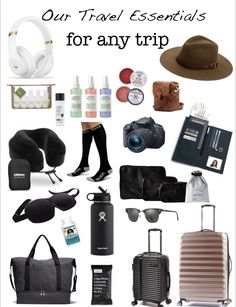 Travel Essentials For Girls Budget Travel – travel outfit plane long flights Travel Packing Checklist, Road Trip Packing List, Travel Essentials For Women, Road Trip Essentials, Suitcase Packing, Airplane Essentials, Purse Essentials, Beach Essentials, Packing Lists