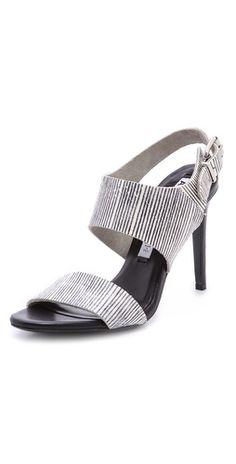 Acne Studios Tillie Snakeskin Sandals | SHOPBOP